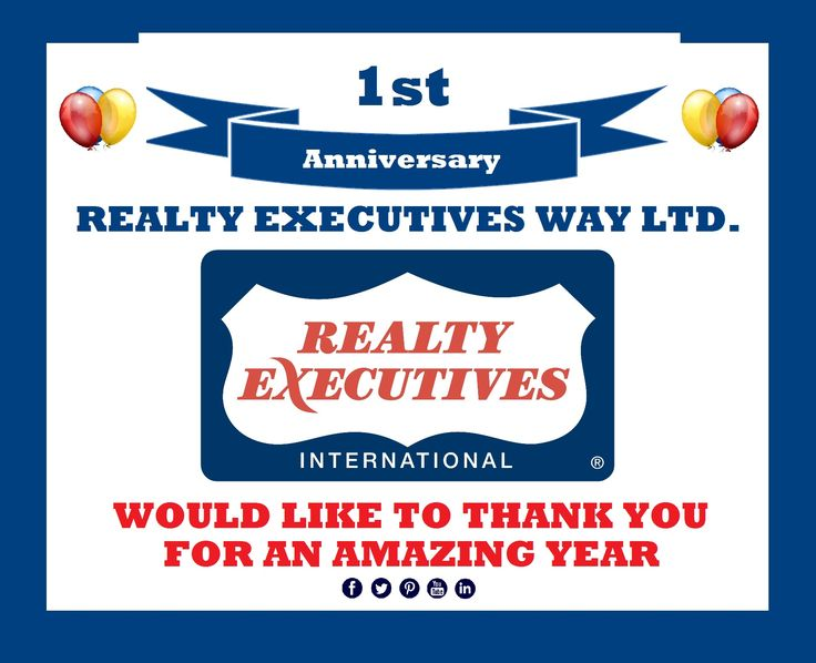 Nov 2015 - On our First Anniversary we would like to express our sincere gratitude to those who helped make our 1st year a success! Darolyn Jones ABR Broker/Owner Realty Executives Way Ltd. darolyn@realtyexecutivesway.com - 705-324-7171 - www.realtyexecutivesway.com - darolynjonesteam on FB Pinterest Twitter Blogger & LIn #home #property #darolynjones #realtyexecutivesway #ontario  #anniversary