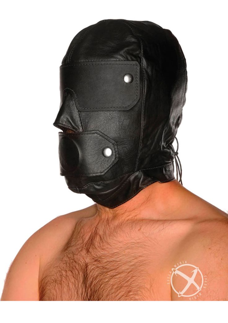 Slave Hood And Gag Black from www.mysextoydeals.com