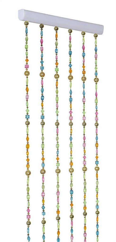 6u0027 bohemian rainbow pastel beaded curtain 12 inches wide