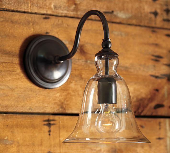 Rustic Glass Indoor Outdoor Sconce Outdoor Sconces