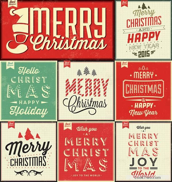 Free Vintage Christmas Background Set 02 Vectors Vector Download