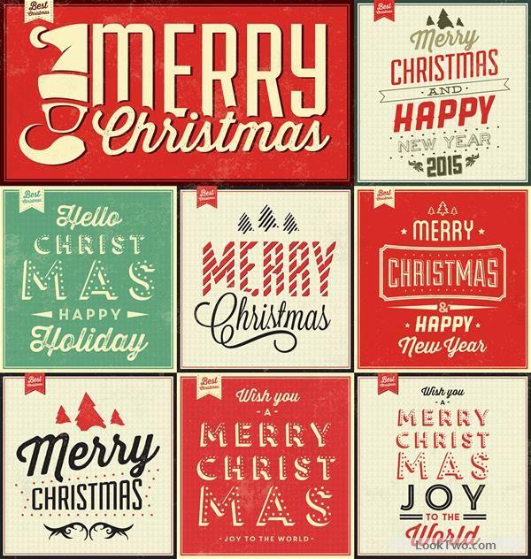 Free Vintage Christmas Background Set 02 Vectors Vector Download
