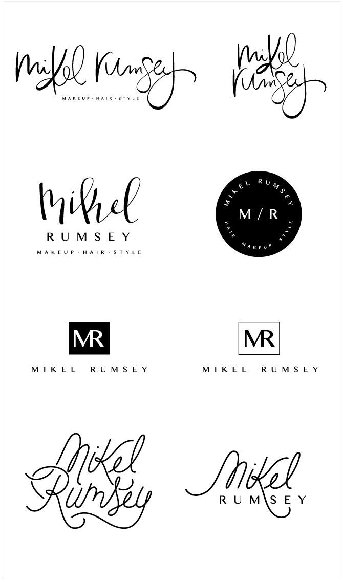 Brand Launch: Mikel Rumsey   Salted Ink Logo Concepts   Salted Ink Hand Lettering Hand lettered   http://www.saltedink.com