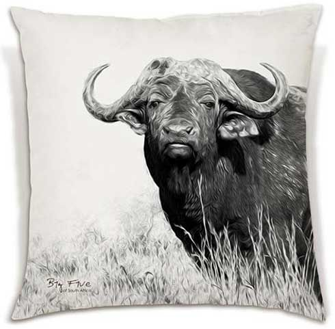 Soft and beautiful, these cushions celebrate the Big 5 in all their glory. | R340 - R380