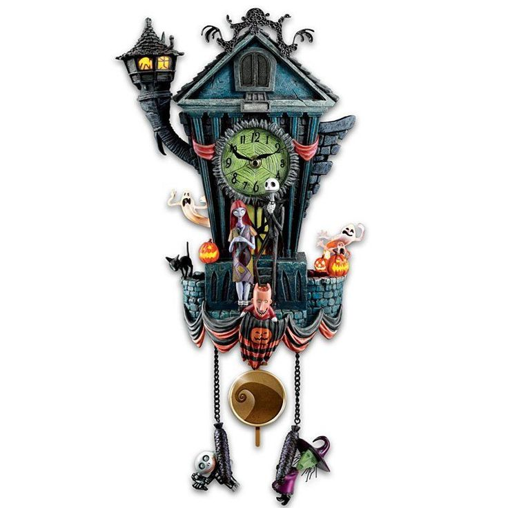 Check out Tim Burton's The Nightmare Before Christmas Wall Clock http://dld.bz/eXKVX