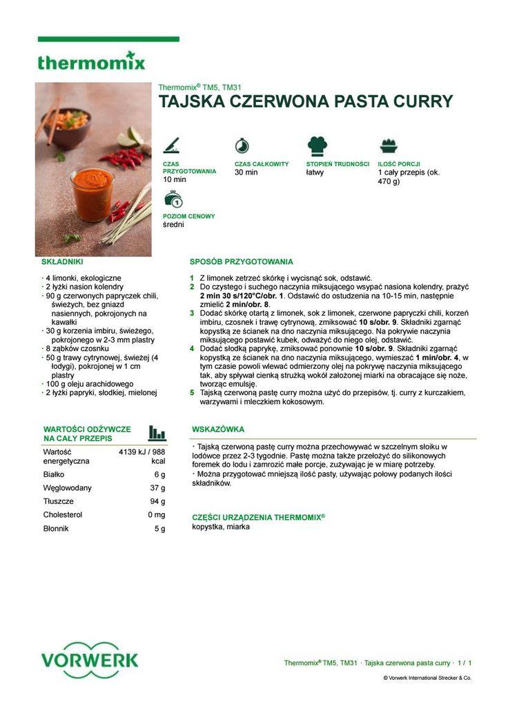 Tajska czerwona pasta curry