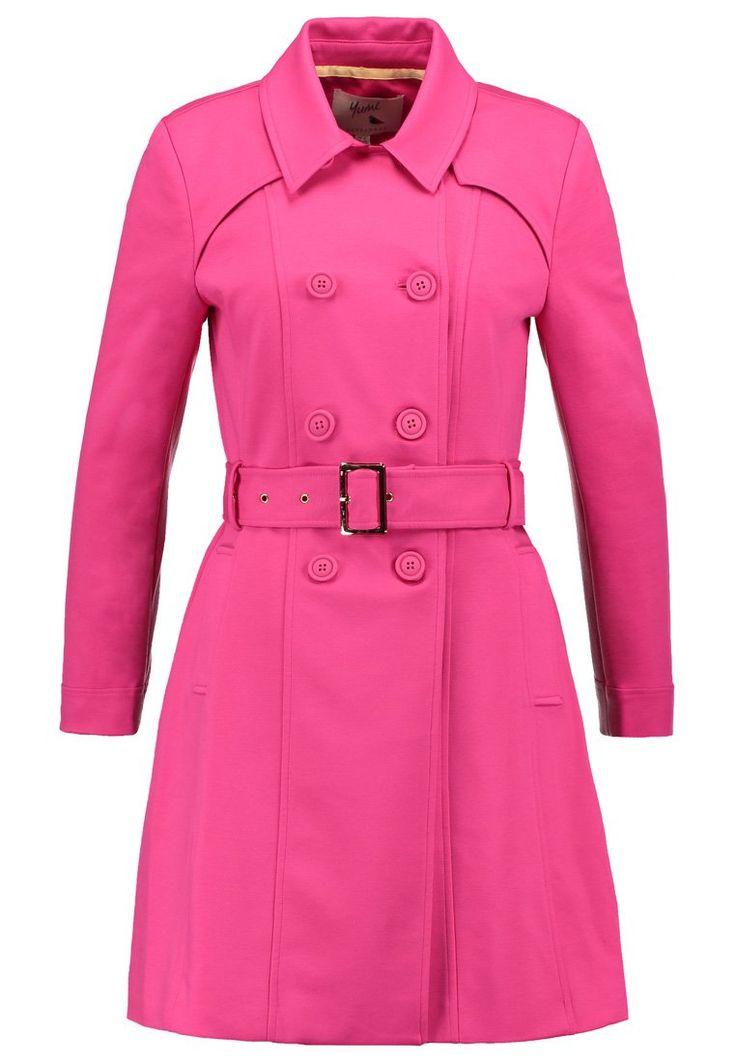 Yumi PONTI Prochowiec różowy trench cerise pink