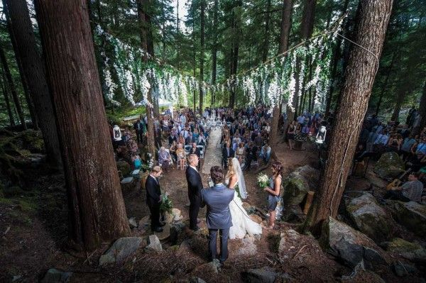 How gorgeous is this forest wedding ceremony in Whistler?!