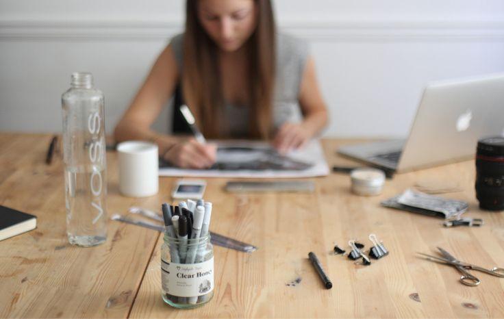 Magdalena Huber, graphic designer, lettering artist and illustrator - Baron Mag