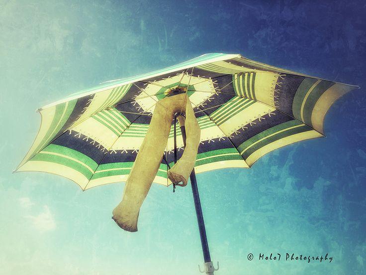 Italy, Sperlonga, summer vacation photography, beach umbrella photo, vintage cloths, dreamy blue sky di Molo7Photography su Etsy