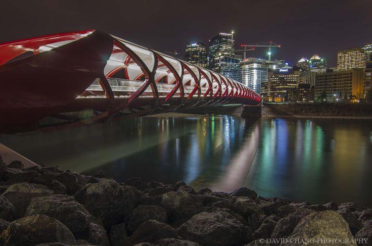 Peace Bridge and Calgary cityscape