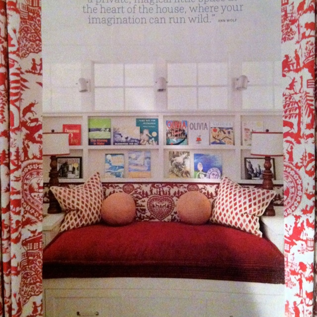 Kid's reading nook that would double as guest bed in playroom