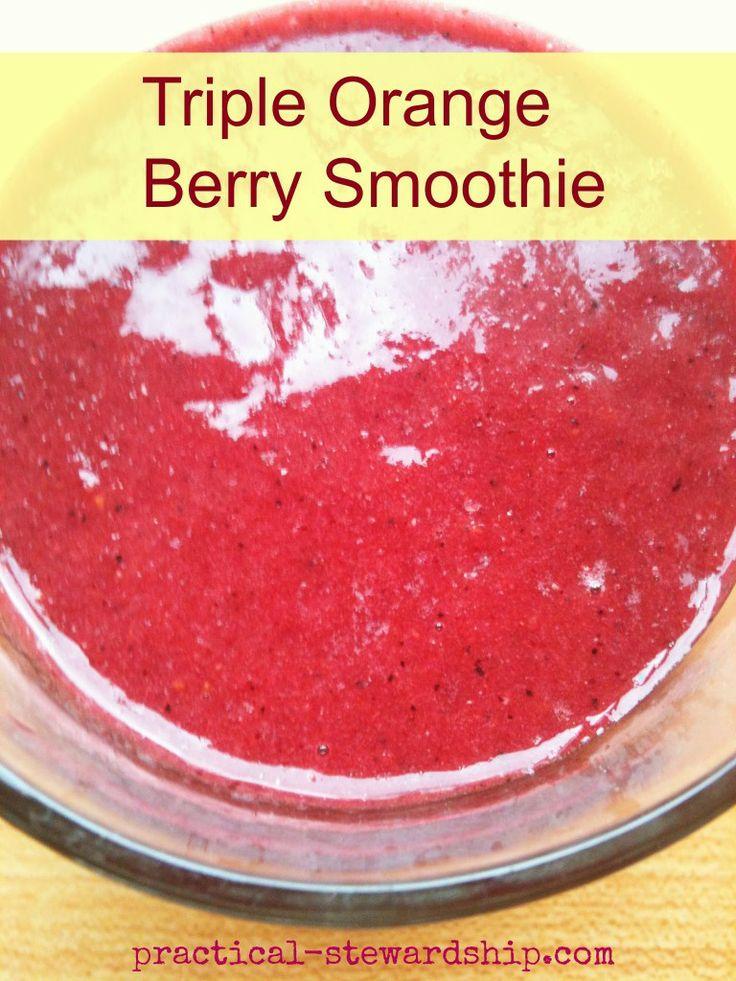 Triple Orange Berry Smoothie. oranges, frozen mixed berries, carrot ...