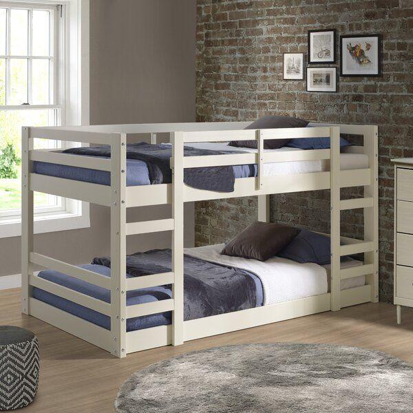 Efharis Twin Over Twin Low Loft Bed Bunk Bed With Trundle Solid Wood Bunk Beds Wood Bunk Beds