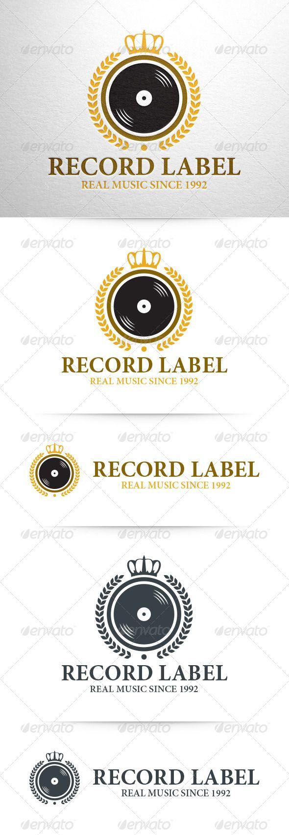 Record Label Logo Template Logos, Logo templates and