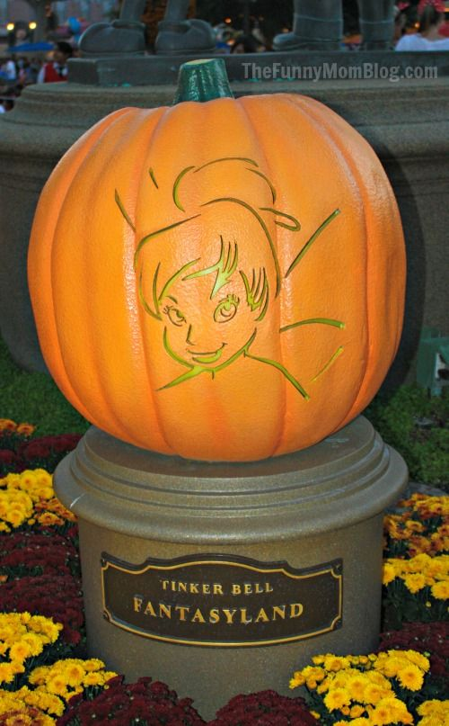 Tinkerbell pumpkin holiday inspiration pinterest for How to carve tinkerbell in a pumpkin