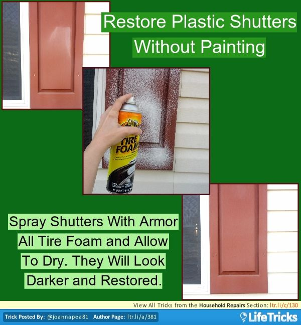 80 best images about building renovating and repair hacks - Best spray paint for exterior shutters ...