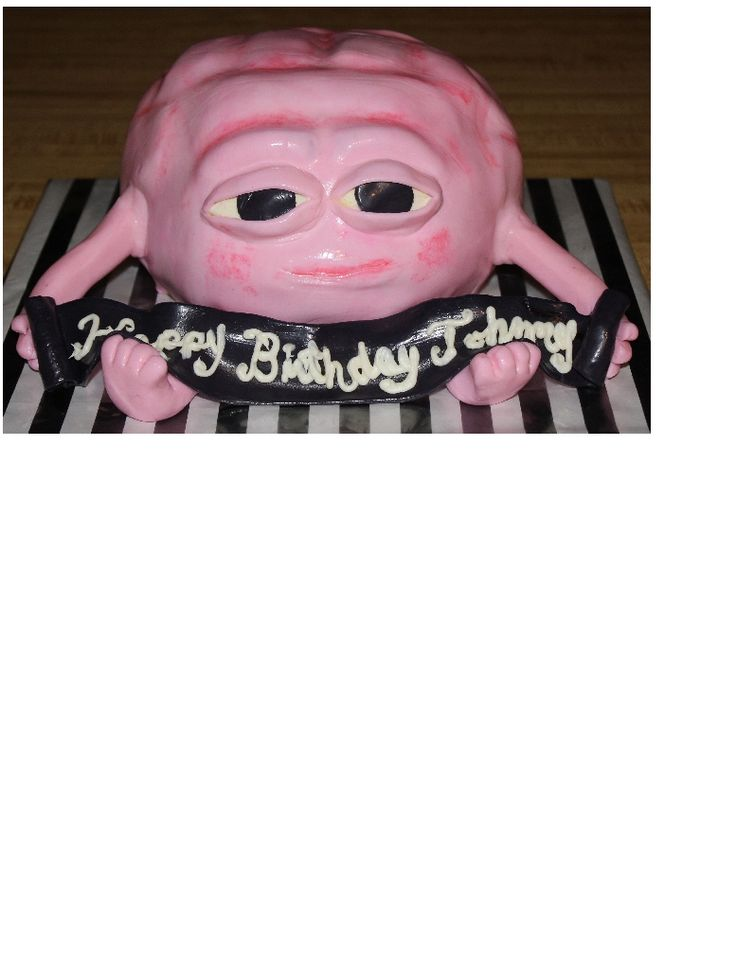 Johnny 19th Birthday Cake... Brain from Little Dicky...