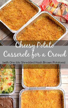 Cheesy Potato Casserole with Ore-Ida Shredded Hash Brown Potatoes #shop