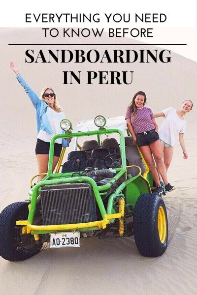 Thinking about taking on the giant sand dunes of Huacachina with a makeshift snowboard? Here's everything you need to know about sandboarding Peru. // Things to do in Huacachina, Huacachina Peru, Huacachina travel, Peru travel, 48 hours in Huacachina, Where to go in Peru, Things to do in Peru, What to do in La Paz, What to do in Peru, Sandboarding in Huacachina,