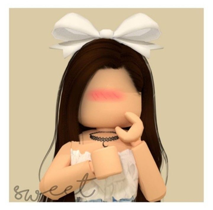 Awww This Is Cute Girl Wearing A Bow Gfx By Sweet She Has Made May Other Cute Gfx Look Her Up On Google At Roblox Pictures Roblox Cute Profile Pictures