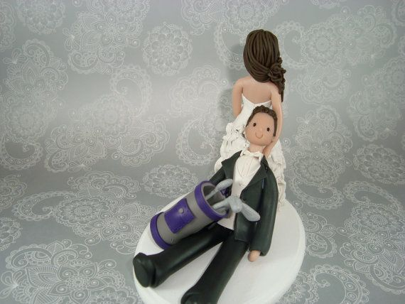 wedding cake toppers bride and groom golf dragging groom golf fanatic customized wedding cake 26410