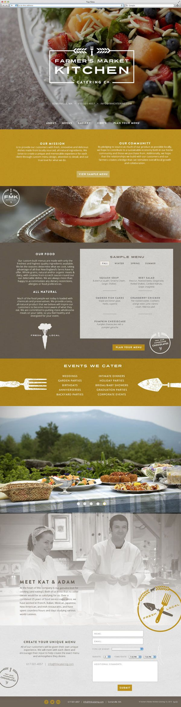 Catering Web Design // Farmer's Market Kitchen by Image Conscious Studiois