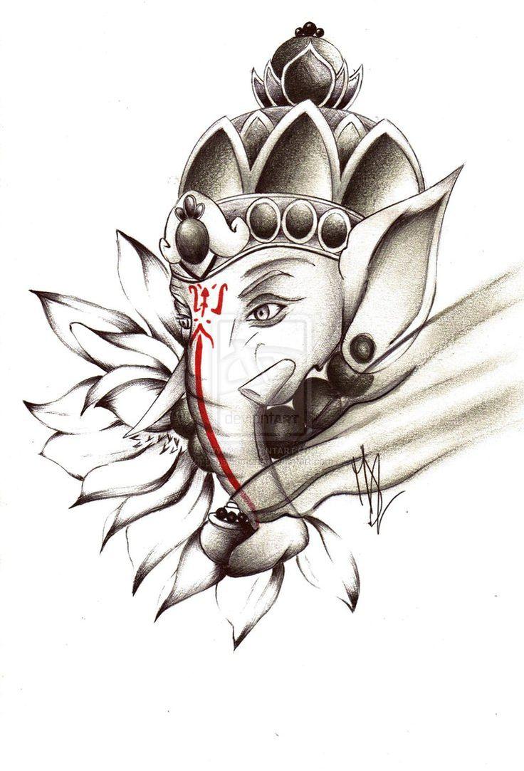 11 ganesha tattoo designs ideas and samples - Commission 5 Ganesh Tattoo By Pensierimorti