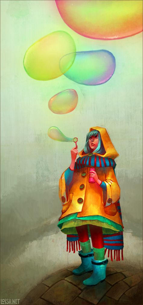bubbles of color by `loish