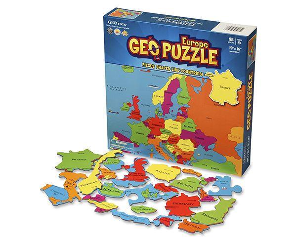 Geo puzzle Evropa