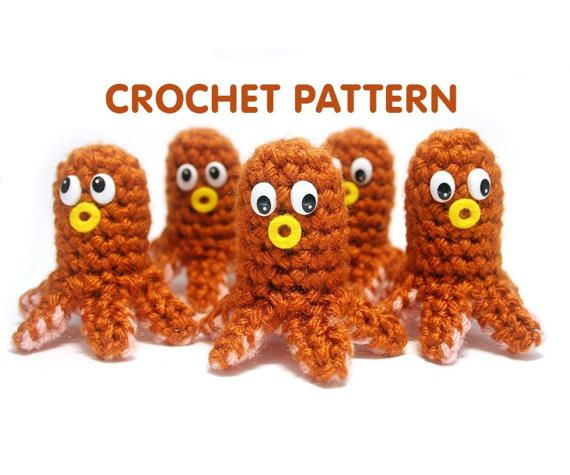 PDF Crochet Pattern - Hot Dog Octopus - by Twinkie Chan - on Etsy - Bento Buddies