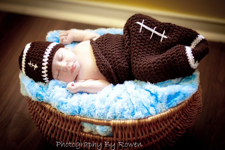 Newborn photography- Future Football Star!