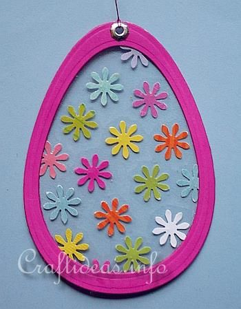 Easter Craft for Kids - Easter Egg Suncatcher