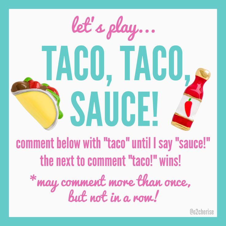 Origami Owl Independent Designer game like Duck, Duck, Goose only Taco, Taco, Sauce!
