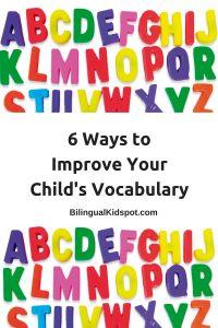 Tipps für zweisprachige Erziehung; Vokabular