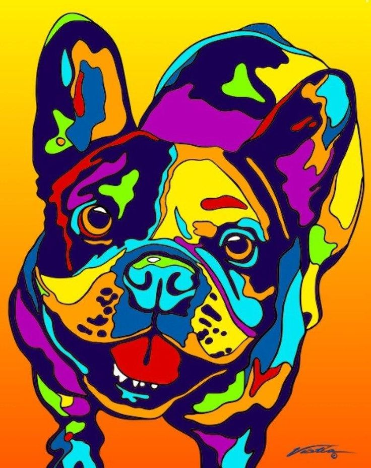 Buy French Bulldog Matted Prints & Canvas Giclées at MULTI-COLOR DOG PRINTS for only $ 65.00