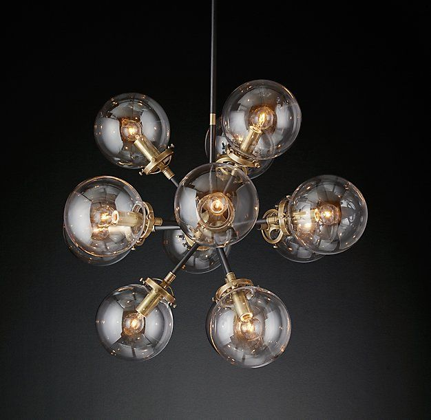 Bistro Globe Clear Glass Burst Chandelier 23 Quot This Is