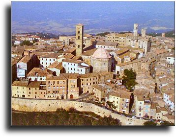 """The tiny medieval village of Volterra in central Tuscany. 