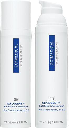 GLYCOGENT™ Exfoliation Accelerator. Exfoliation Accelerator.   An innovative exfoliation accelerator engineered to help reduce inflammation and prevent future damage. Active ingredients enhance mitosis and help correct skin discoloration.        Potent glycolic and lactic acid complex provides skin surface renewal      Anti-inflammatory properties help minimize the appearance of irritated skin. Proven antioxidants help prevent future skin damage