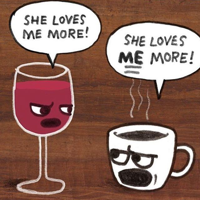 Ha! winelover - coffeelover