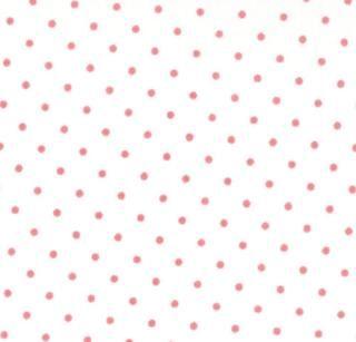 8654-69 - Essential Dots (White Peony) // Juberry Fabrics
