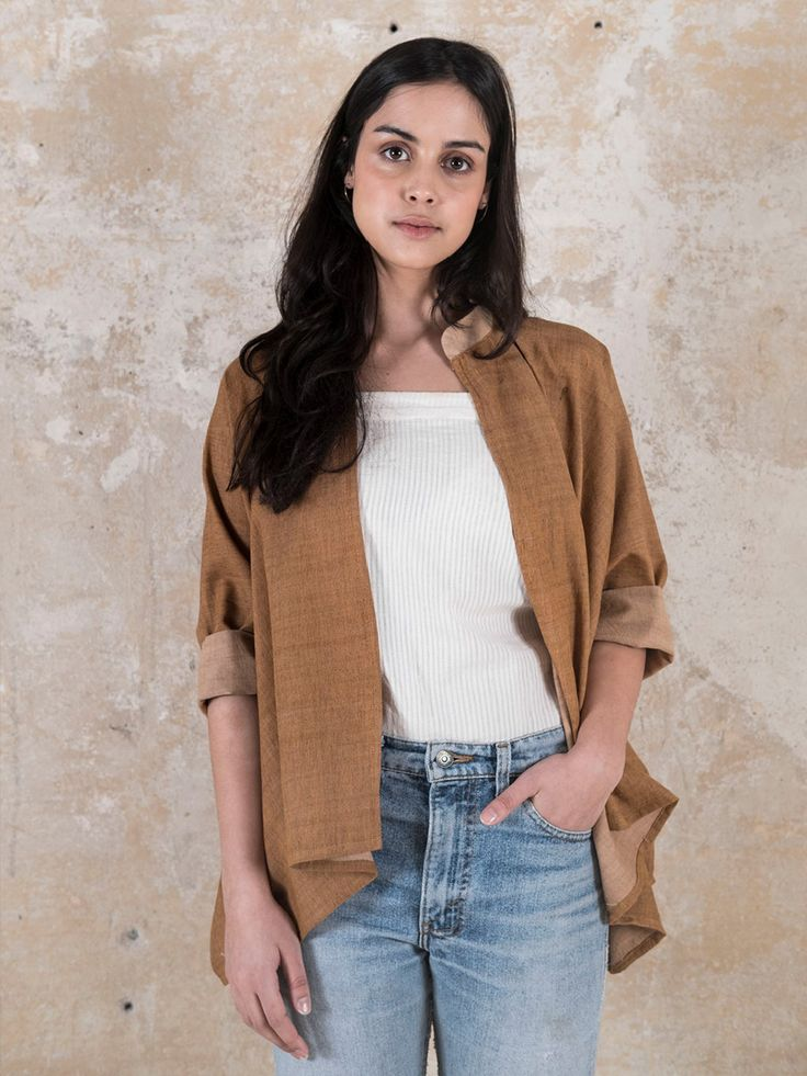 Jyoti-Fair-Works-Naturmode-Vegan-Sommer-Cardigan-Chandrama-Curry-1