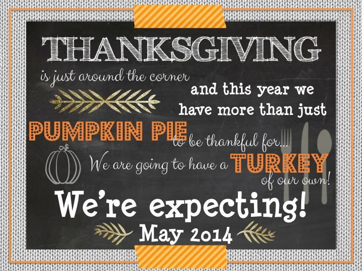 Thanksgiving Pregnancy Announcement from THE LifeStyled COMPANYS Etsy shop!!