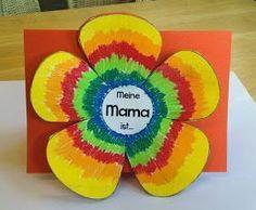 KLASSENKUNST: Vorlage: Karte zum Muttertag