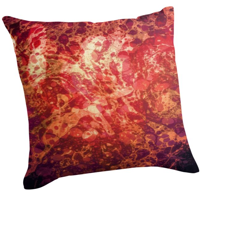 Boundless Journey, Retro Abstract Art Bubbles Swirls by ItayaArt, Throw Pillows.
