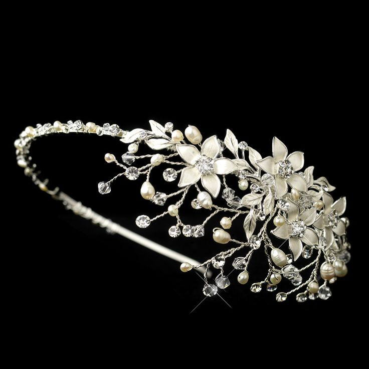 Beautiful! Freshwater Pearl Flower Wedding Headband hp9616 - Affordable Elegance Bridal -