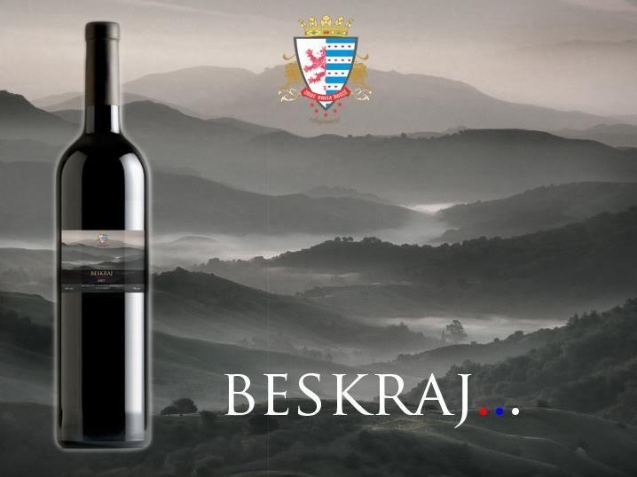 My design of best Serbian wine BESKRAJ.