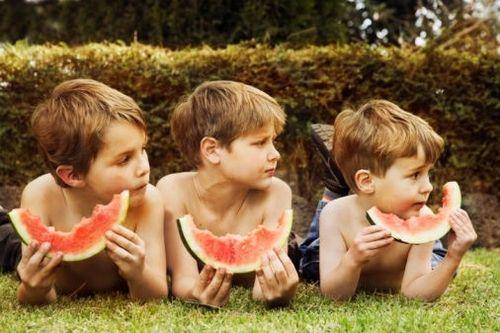 Wegdromen met watermeloen...