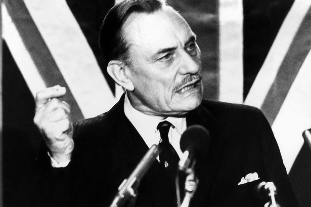 Enoch Powell's Rivers of Blood speech to the General Meeting of the West Midlands Area Conservative Political Centre on April 20, 1968.  ''AS I look ahead, I am filled with foreboding. Like the Roman, I seem to see 'the River Tiber foaming with much blood'.''
