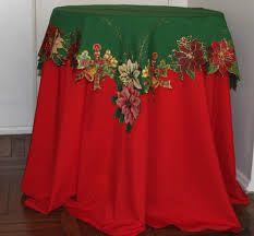 Resultado de imagem para toalhas de mesa de natal pintadas
